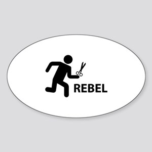 REBEL Sticker (Oval)