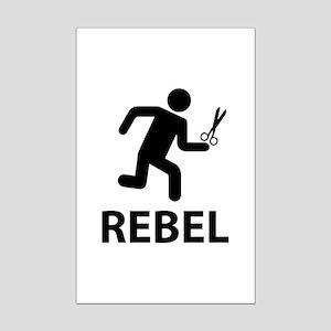 REBEL Mini Poster Print