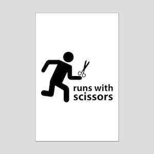 runs with scissors Mini Poster Print