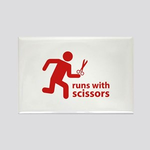 runs with scissors Rectangle Magnet