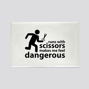 Runs with scissors makes me feel dangerous Rectang