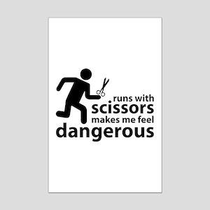 Runs with scissors makes me feel dangerous Mini Po