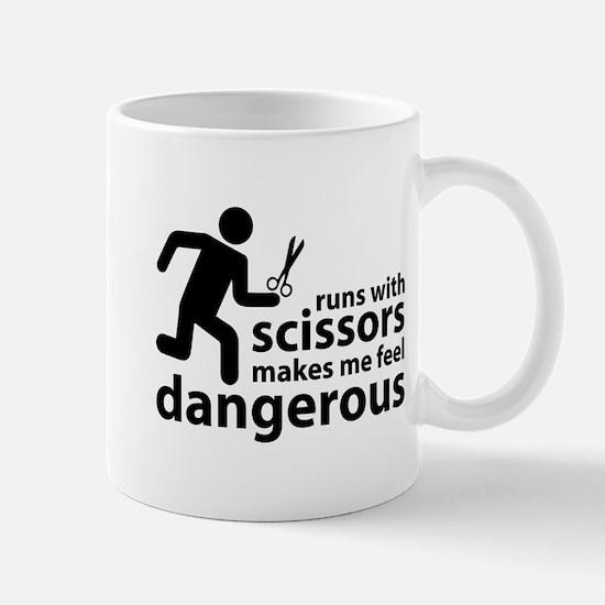 Runs with scissors makes me feel dangerous Mug