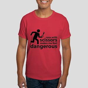 Runs with scissors makes me feel dangerous Dark T-