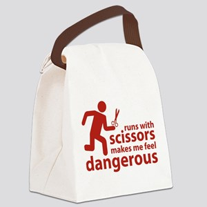 Runs with scissors makes me feel dangerous Canvas