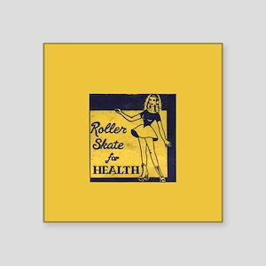 """Roller Skate for Health 3"""" Lapel Sticker (48"""