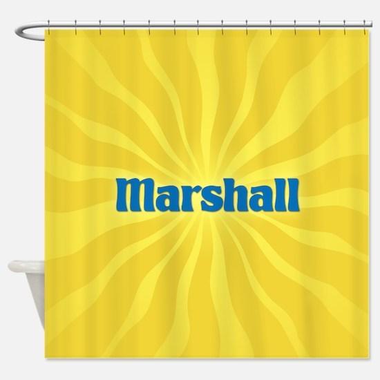 Marshall Sunburst Shower Curtain