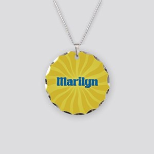 Marilyn Sunburst Necklace Circle Charm