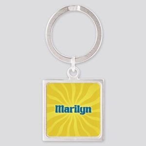 Marilyn Sunburst Square Keychain