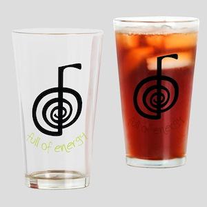 Full Of Energy Drinking Glass