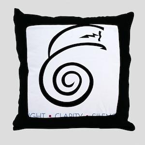 Light Clarity Silence Throw Pillow