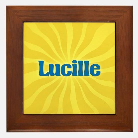 Lucille Sunburst Framed Tile