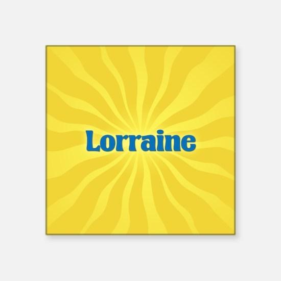 "Lorraine Sunburst Square Sticker 3"" x 3"""