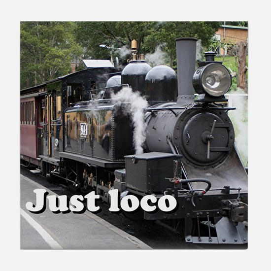 Just loco: steam train, Victoria, Australia Tile C