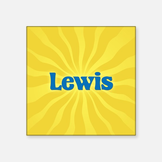 "Lewis Sunburst Square Sticker 3"" x 3"""