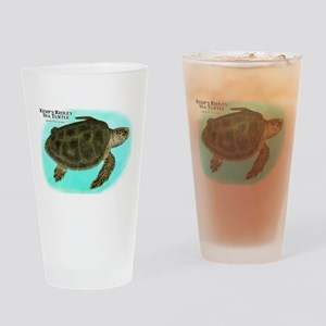 Kemp's Ridley Sea Turtle Drinking Glass