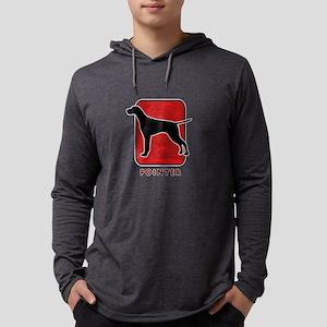 16-redsilhouette Mens Hooded Shirt
