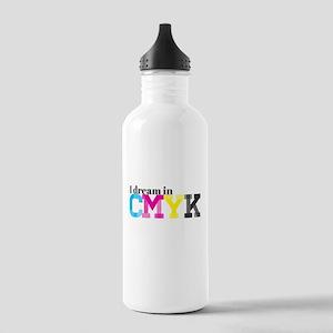 I Dream in CMYK Stainless Water Bottle 1.0L