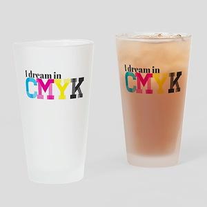 I Dream in CMYK Drinking Glass