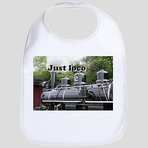 Just loco: steam train Wales, UK Bib