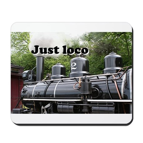 Just loco: steam train Wales, UK Mousepad