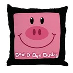 Pig Bed-D-Bye Buddy Throw Pillow