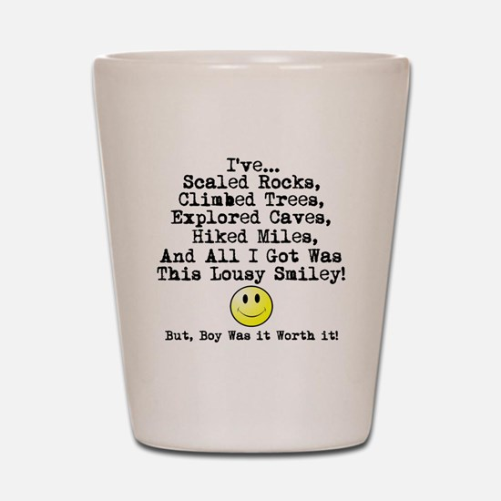 Lousy Smiley Shot Glass