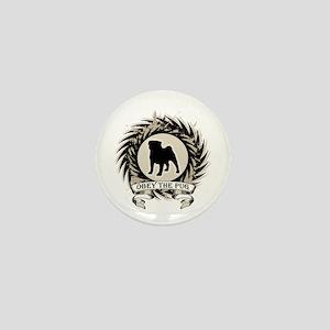 Obey The Pug Mini Button