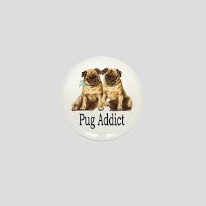 Pug Addict Mini Button