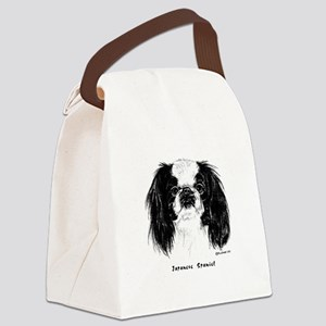 Japanese Spaniel Canvas Lunch Bag