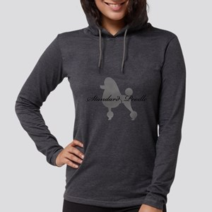 greysilhouette2stand Womens Hooded Shirt