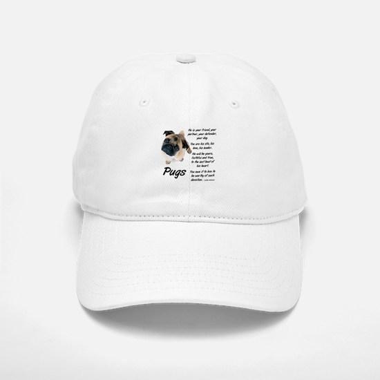 Pug Your Friend Baseball Baseball Cap