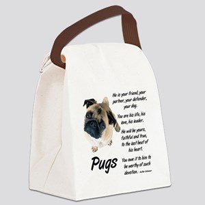 Pug Your Friend Canvas Lunch Bag