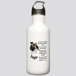 Pug Your Friend Stainless Water Bottle 1.0L