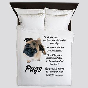Pug Your Friend Queen Duvet