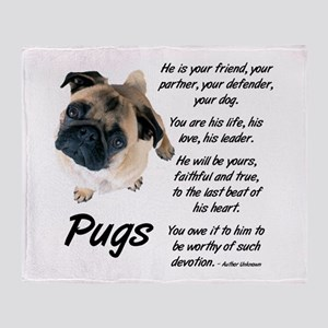 Pug Your Friend Throw Blanket