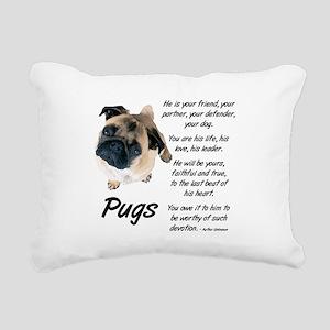 Pug Your Friend Rectangular Canvas Pillow