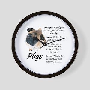 Pug Your Friend Wall Clock