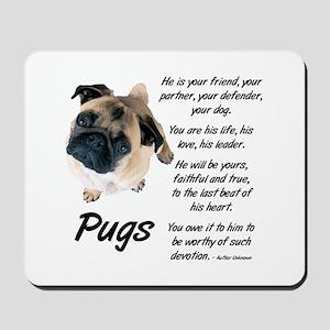 Pug Your Friend Mousepad