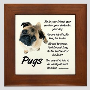 Pug Your Friend Framed Tile