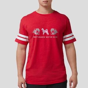 12-pinkgray Mens Football Shirt