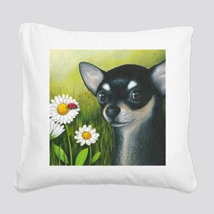 dog 79 Square Canvas Pillow