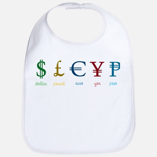 Currency Symbols Bib