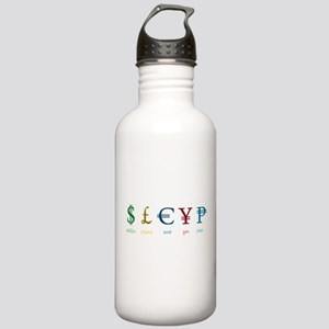 Currency Symbols Stainless Water Bottle 1.0L