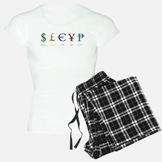Currency Symbols Pajamas