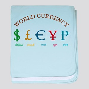 World Currency baby blanket
