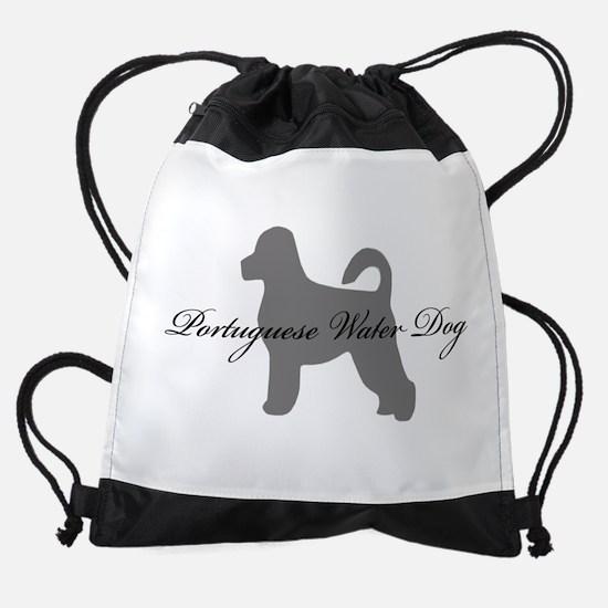 19-greysilhouette2.png Drawstring Bag