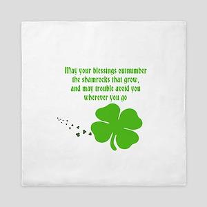 Irish Blessings Queen Duvet