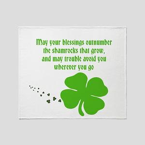 Irish Blessings Throw Blanket
