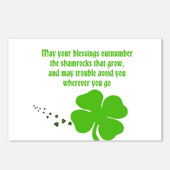 Irish Blessings Postcards (Package of 8)